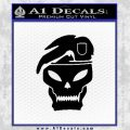 Call Of Duty Black Ops 2 Skull Beret Decal Sticker Black Vinyl 120x120