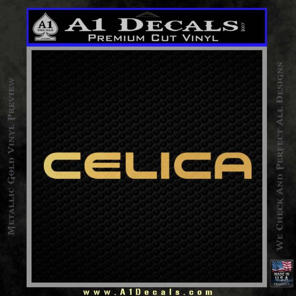Celica Decal Sticker Toyota Gold Vinyl