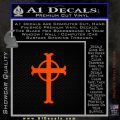 Celtic Circle Cross Decal Sticker Crucifix Orange Emblem 120x120