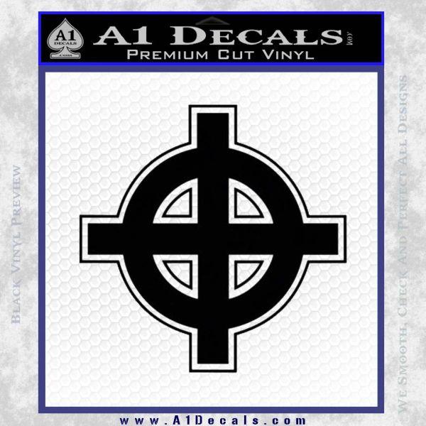 Celtic Sun Cross D1 Decal Sticker Black Vinyl