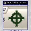 Celtic Sun Cross D1 Decal Sticker Dark Green Vinyl 120x120