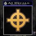 Celtic Sun Cross D1 Decal Sticker Gold Vinyl 120x120