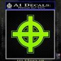 Celtic Sun Cross D1 Decal Sticker Lime Green Vinyl 120x120
