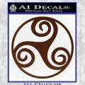 Celtic Swirl Triskel Decal Sticker BROWN Vinyl 120x120