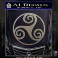 Celtic Swirl Triskel Decal Sticker Carbon FIber Chrome Vinyl 120x120