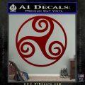 Celtic Swirl Triskel Decal Sticker DRD Vinyl 120x120