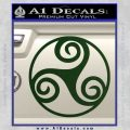Celtic Swirl Triskel Decal Sticker Dark Green Vinyl 120x120