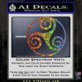 Celtic Swirl Triskel Decal Sticker Glitter Sparkle 120x120