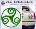 Celtic Swirl Triskel Decal Sticker Green Vinyl Logo 120x97