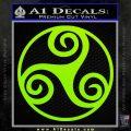 Celtic Swirl Triskel Decal Sticker Lime Green Vinyl 120x120