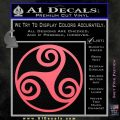 Celtic Swirl Triskel Decal Sticker Pink Emblem 120x120