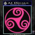 Celtic Swirl Triskel Decal Sticker Pink Hot Vinyl 120x120