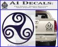 Celtic Swirl Triskel Decal Sticker PurpleEmblem Logo 120x97