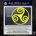 Celtic Swirl Triskel Decal Sticker Yellow Laptop 120x120