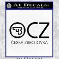 Ceska Zbrojovka Firearms Decal Sticker Black Vinyl 120x120