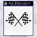Checker Flag Decal Sticker Black Vinyl 120x120