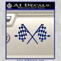 Checker Flag Decal Sticker Blue Vinyl 120x120
