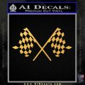 Checker Flag Decal Sticker Gold Vinyl 120x120