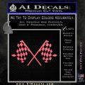 Checker Flag Decal Sticker Pink Emblem 120x120