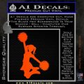 Cheerleader Decal Sticker DS Orange Emblem 120x120