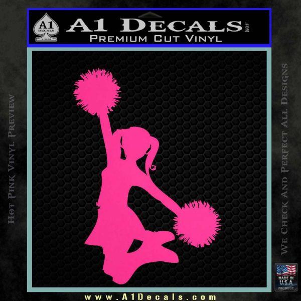 Cheerleader Decal Sticker DS Pink Hot Vinyl