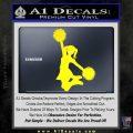 Cheerleader Decal Sticker DS Yellow Laptop 120x120