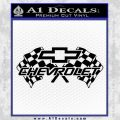 Chevy 2 Race Flags Decal Sticker Black Vinyl 120x120