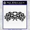 Chevy 2 Race Flags Decal Sticker Black Vinyl 120x120