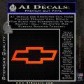 Chevy Bowtie Decal Sticker Orange Emblem 120x120
