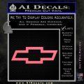 Chevy Bowtie Decal Sticker Pink Emblem 120x120