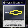 Chevy Bowtie Decal Sticker Yellow Laptop 120x120