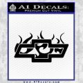 Chevy Bowtie Flames Inside Decal Sticker Black Vinyl 120x120