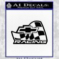 Chevy Race Flag Decal Sticker V2 Black Vinyl 120x120