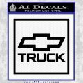 Chevy Trucks Decal Sticker SQ Black Vinyl 120x120