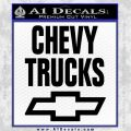 Chevy Trucks Decal Sticker Stacked Black Vinyl 120x120