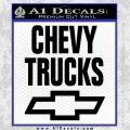 Chevy Trucks Decal Sticker Stacked Black Vinyl 120x120