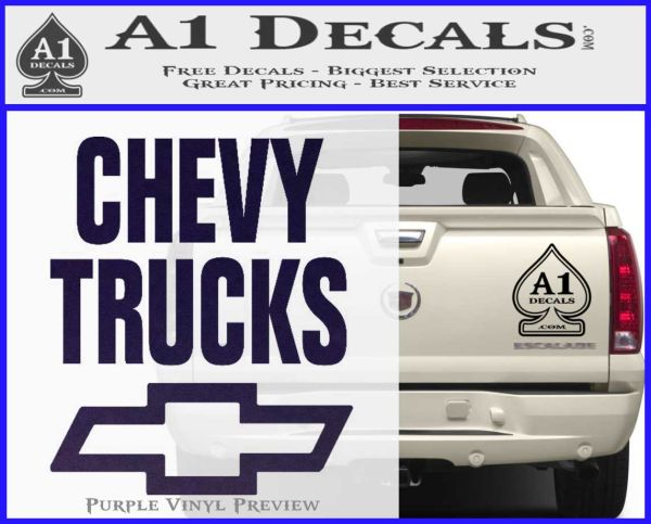 Chevy Trucks Decal Sticker Stacked  A Decals - Chevy decals for trucks