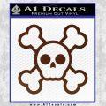 Chibi Skull And Crossbones Decal Sticker BROWN Vinyl 120x120