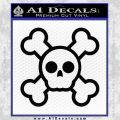 Chibi Skull And Crossbones Decal Sticker Black Vinyl 120x120