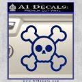 Chibi Skull And Crossbones Decal Sticker Blue Vinyl 120x120
