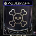 Chibi Skull And Crossbones Decal Sticker Carbon FIber Chrome Vinyl 120x120