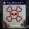 Chibi Skull And Crossbones Decal Sticker DRD Vinyl 120x120