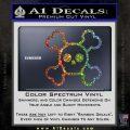 Chibi Skull And Crossbones Decal Sticker Glitter Sparkle 120x120
