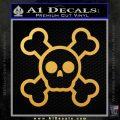 Chibi Skull And Crossbones Decal Sticker Gold Vinyl 120x120