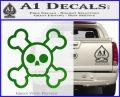 Chibi Skull And Crossbones Decal Sticker Green Vinyl Logo 120x97