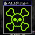 Chibi Skull And Crossbones Decal Sticker Lime Green Vinyl 120x120
