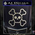 Chibi Skull And Crossbones Decal Sticker Metallic Silver Emblem 120x120