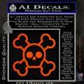 Chibi Skull And Crossbones Decal Sticker Orange Emblem 120x120