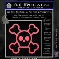 Chibi Skull And Crossbones Decal Sticker Pink Emblem 120x120