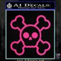 Chibi Skull And Crossbones Decal Sticker Pink Hot Vinyl 120x120